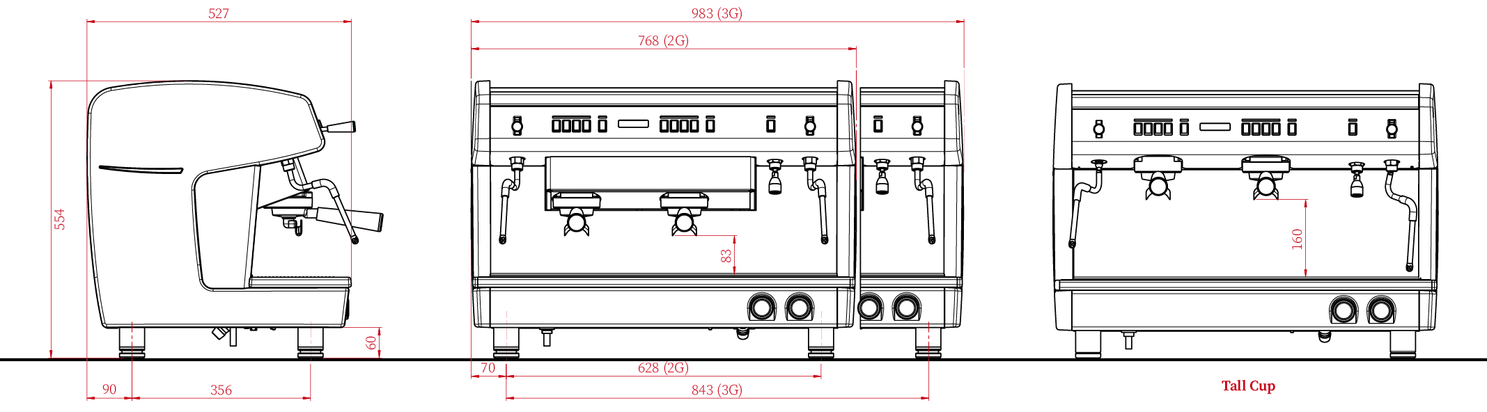 X One TCI Technical Drawing